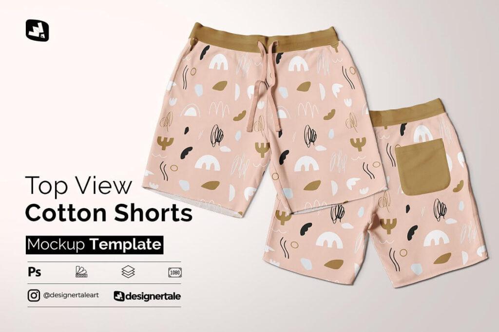 Top View Cotton Shorts Mockup (1)