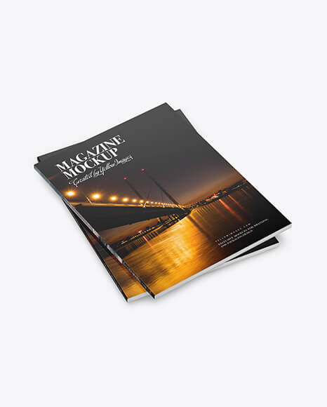 Two Paper A4 Magazines Mockup (1)