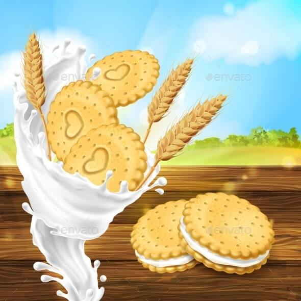 Vector Promotion Banner for Milky Cookies Brand (1)