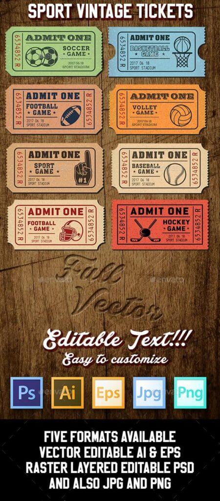 Vector Sport Tickets Templates (1)