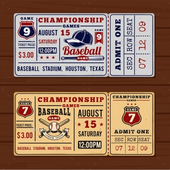 Vintage Tickets To the Championship Baseball (1)