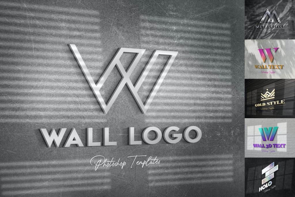 Wall Text or Logo Mockups (1)