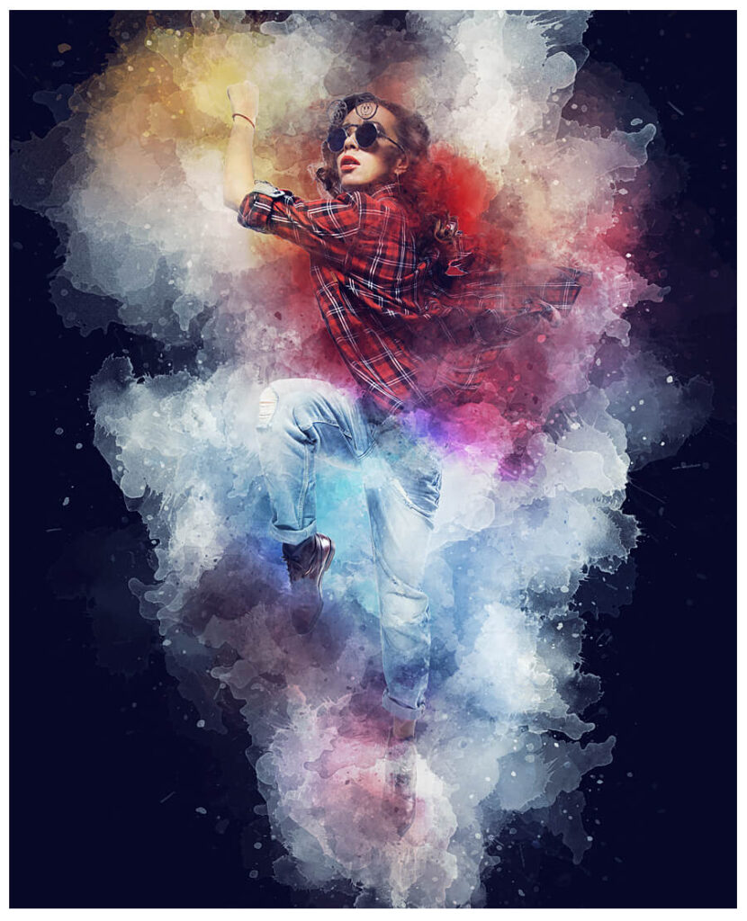 Watercolor Animation Photoshop Action (1)