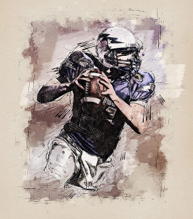 Watercolor Sketch - Photoshop Action (1)