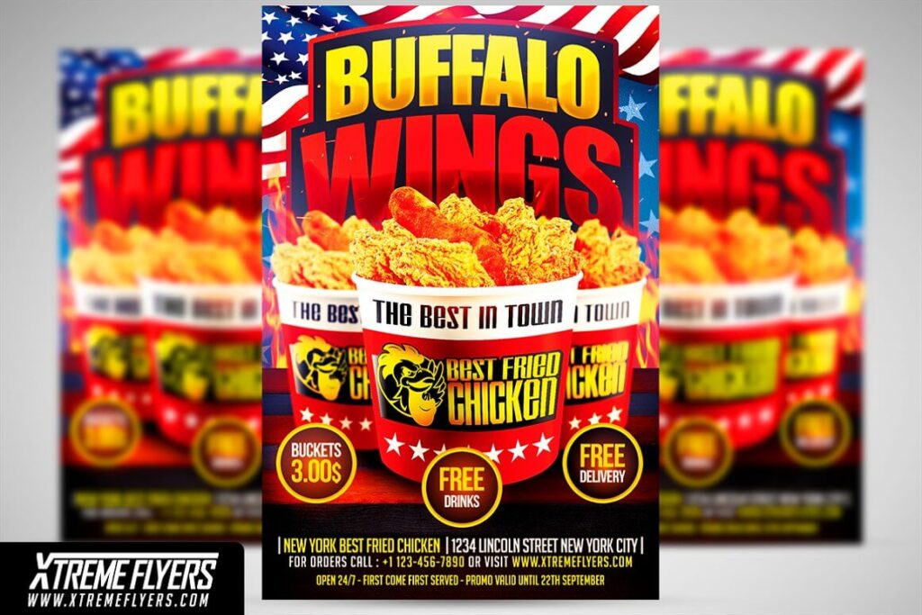 Wings Fast Food Flyer Template (1)