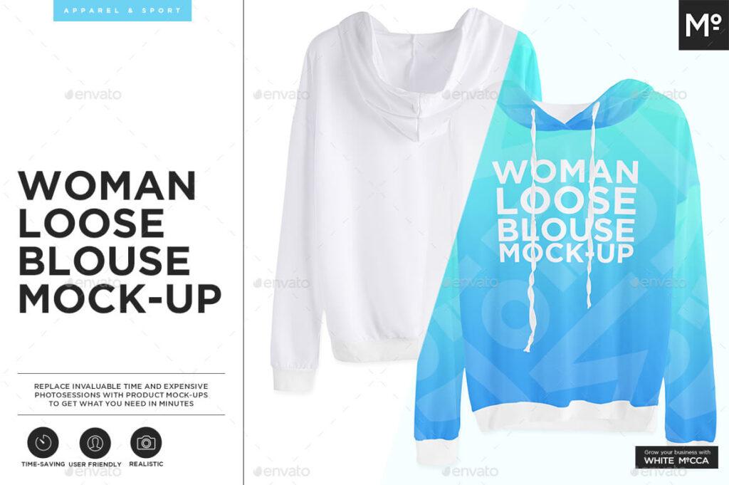 Woman Loose Blouse Mock-up (1)