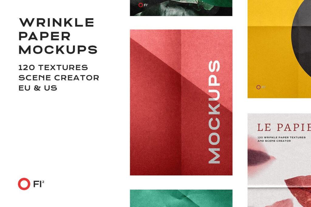 Wrinkle Paper Mockup Branding Bundle (1)
