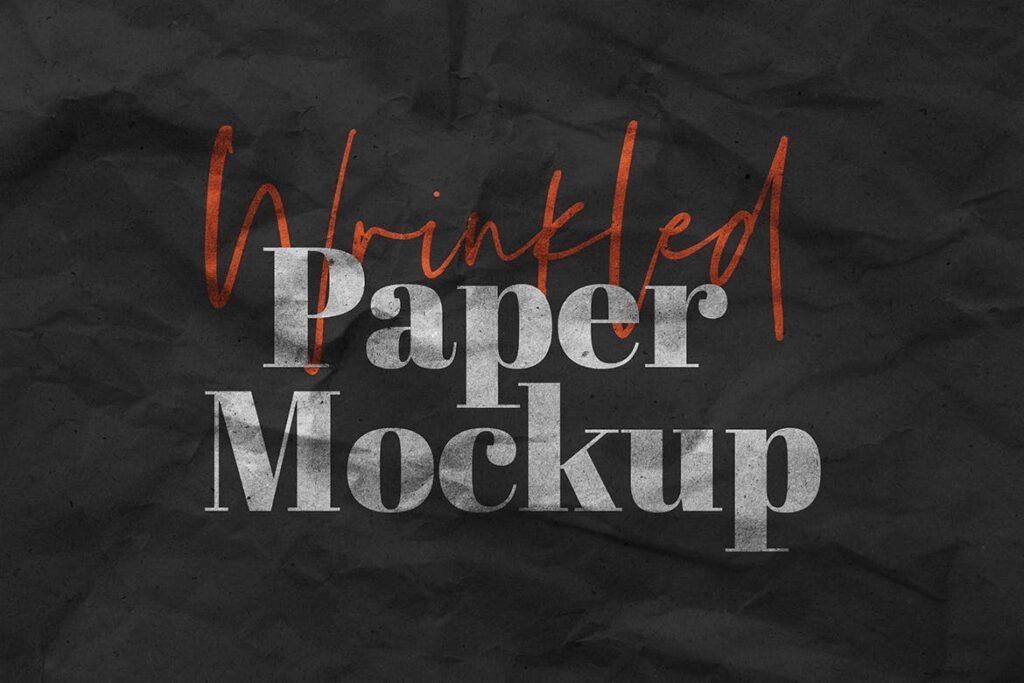 Wrinkled Paper Mockup Vol.1
