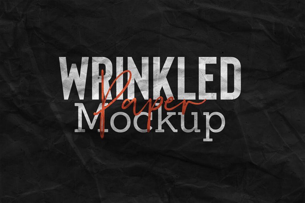 Wrinkled Paper Mockup Vol.2