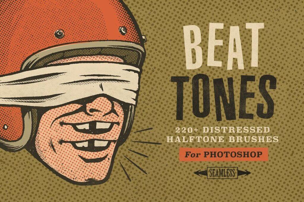 Beat Tones Halftone Brushes (1)