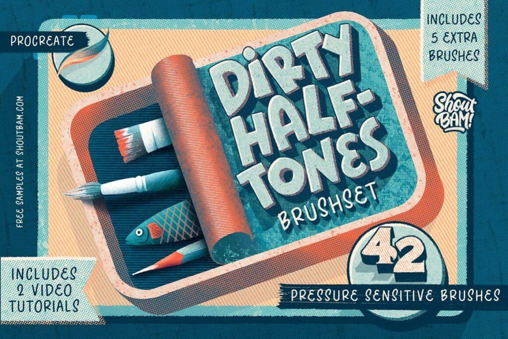 Dirty Halftones Brush Set (1)