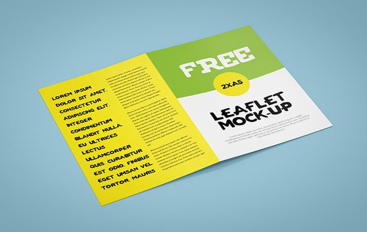 Free A5 Bi-Fold Leaflet Mockup PSD Template (1)