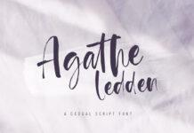 Free Agathe Ledden Script Font (1)
