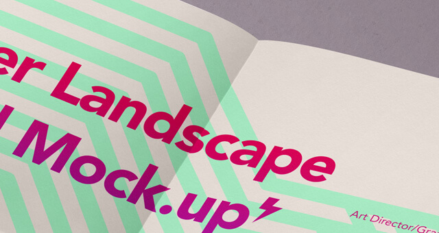 Free Landscape A4 Paper Mockup PSD Template1 (2)