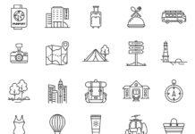 Free Vigorous Travel Vector Icons (1)