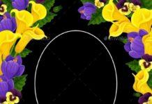 Funeral Card Vector Template, Condolence Frame (1)