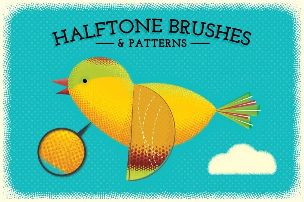 Halftone Brushes + Bonus Patterns (1)