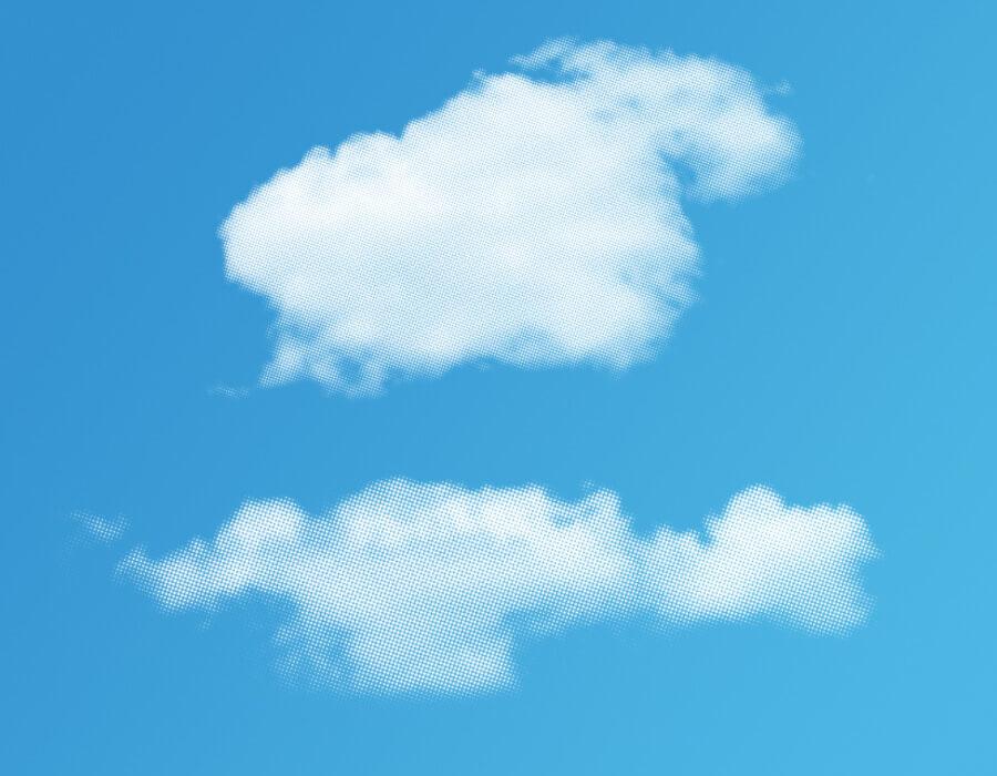 Halftone Cloud Brushes (1)